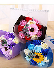 cheap -Artificial Flowers 1 Branch Classic Wedding Flowers Modern Roses Sunflowers Tabletop Flower