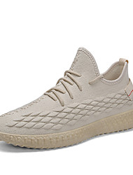 preiswerte -Herrn Komfort Schuhe Tissage Volant Frühling Freizeit Sportschuhe Atmungsaktiv Weiß / Beige