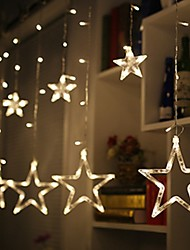 Недорогие -2 м сказочная гирлянда из светодиодов занавес строки огни на Рождество праздник свадьбы