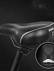 Недорогие -Wheel up Седло для велосипеда Очень широкий Дышащий Комфорт Кожа PU силикагель Велоспорт Шоссейный велосипед Горный велосипед Черный