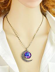 levne -Dámské Hvězdný prach Náhrdelníky s přívěšky Galaxie Vintage Módní Půvab Fialová Modrá 46.8 cm Náhrdelníky Šperky 1ks Pro Denní Práce