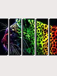 Недорогие -С картинкой Роликовые холсты Отпечатки на холсте - Абстракция Животные Modern