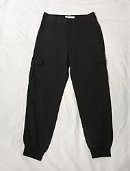povoljno -muške hlače od chinos veličine u azijskim veličinama - crno u boji