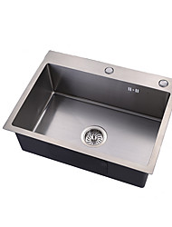 Недорогие -Kitchen Sink- 304 Нержавеющая сталь Матовый Прямоугольный Падение в Одиночная чаша