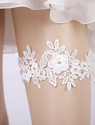 ราคาถูก -ลูกไม้ เกี่ยวกับเจ้าสาว Wedding Garter กับ หินประกาย / ดอกไม้ สายรัด งานแต่งงาน / ปาร์ตี้