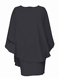 Χαμηλού Κόστους -Γυναικεία Βασικό Θήκη Φόρεμα - Μονόχρωμο Ως το Γόνατο