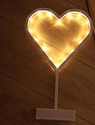 abordables -1pc Heart Shape LED Night Light Jaune Piles AA alimentées Créatif <=36 V