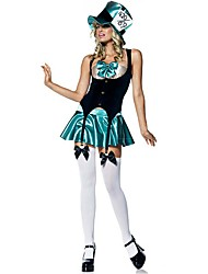 cheap -The Greatest Showman Outfits Women's Movie Cosplay Black Top Skirt Hat Halloween Carnival Masquerade Elastane Polyster