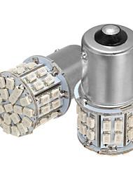Недорогие -2 шт. Bau15s 150 7507 py21w 50smd светодиодные фонари поворота автомобиля лампы торможения лампы янтарного цвета постоянного тока 12 В 3.5 Вт