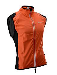 Недорогие -ROCKBROS Муж. Жилет для велоспорта Велоспорт Жилетка С защитой от ветра Дышащий Виды спорта Сплошной цвет Черный / Оранжевый / Зеленый Одежда Свободный силуэт Одежда для велоспорта / Слабоэластичная