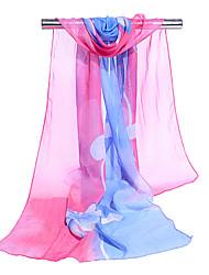 abordables -Mujer Multi capa Bufanda Rectangular - Básico / Vacaciones Bloques