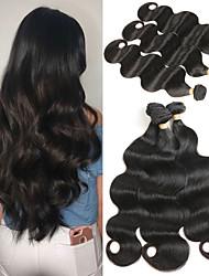 economico -3 pacchetti Brasiliano Ondulato naturale capelli naturali Remy Extension di capelli umani 10-26 pollice Tessiture capelli umani Soffice Migliore qualità Nuovo arrivo Estensioni dei capelli umani Per