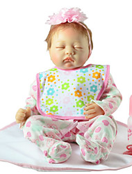 cheap -FeelWind Reborn Doll Girl Doll Baby Boy Baby Girl 22 inch Silicone Vinyl - lifelike Handmade Cute Kids / Teen Non-toxic Kid's Unisex Toy Gift