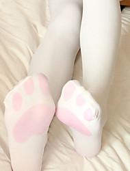 7930795477e44 Cosplay Women's Adults' Princess Lolita Tights Girly Socks / Long Stockings  Thigh High Socks White Cat Lolita Accessories / High Elasticity