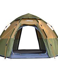 Недорогие -DesertFox® 8 человек Автоматический тент На открытом воздухе Легкость С защитой от ветра Дожденепроницаемый Двухслойные зонты Автоматический Палатка >3000 mm для