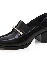 Χαμηλού Κόστους -Γυναικεία Νάπα Leather / Λουστρίν Άνοιξη Βίντατζ / Μινιμαλισμός Τακούνια Κοντόχοντρο Τακούνι Μυτερή Μύτη Καρφιά Μαύρο