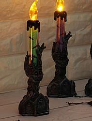 Недорогие -1 шт. Светодиодные украшения хэллоуин реквизит свеча ночной свет настольные украшения теплые белые кнопки на батарейках <5 В>