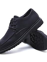 baratos -Homens Sapatos de couro Couro Primavera Verão Mocassins e Slip-Ons Caminhada Botas Curtas / Ankle Preto / Marron / Khaki