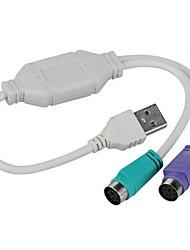 Недорогие -USB-разъем для PS / 2 PS2 женский конвертер кабель-кабель конвертер адаптер клавиатура