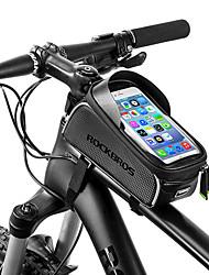 Недорогие -ROCKBROS Сотовый телефон сумка 6 дюймовый Водонепроницаемость, Компактность Велоспорт для Другие же размера телефоны Черный