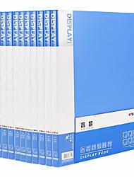 Недорогие -10 pcs M&G ADMN4165 Папки файлов A4 PP Прозрачный Custom Label Влагоотталкивающий