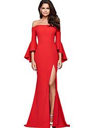 Χαμηλού Κόστους -Γυναικεία Βασικό Θήκη Φόρεμα - Μονόχρωμο Μακρύ
