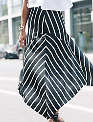 povoljno -ženski maxi linija suknje - prugasti tisak