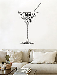 cheap -Decorative Wall Stickers - Plane Wall Stickers Characters / Shapes Living Room / Bedroom / Kitchen