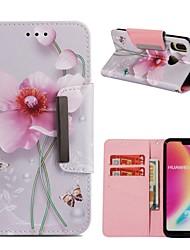 abordables -Coque Pour Huawei P20 lite / Huawei Mate 20 Pro Portefeuille / Porte Carte / Antichoc Coque Intégrale Fleur Dur faux cuir pour Huawei P20 / Huawei P20 Pro / Huawei P20 lite