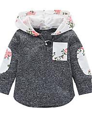Χαμηλού Κόστους -Παιδιά Αγορίστικα Βασικό Συνδυασμός Χρωμάτων Μακρυμάνικο Βαμβάκι Μπλούζα με Κουκούλα & Φούτερ Λευκό