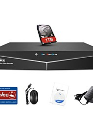 Недорогие -Видеорегистратор sannce® 4-канальный 1080n видеонаблюдения с жестким диском 1 ТБ
