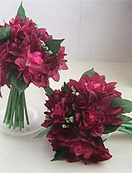 abordables -Flores Artificiales 6 Rama Clásico Ramos de Flores para Boda Estilo Pastoral Crisantemo Flor de Mesa