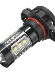 Недорогие -5202 h16 ps24w высокой мощности 80 Вт белый 6000 К противотуманные фары проектор светодиодный