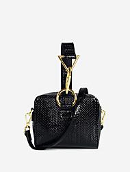hesapli -Kadın's Çantalar PU Tote Fermuar için Günlük Siyah / Doğal Pembe / Kahverengi