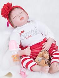 Χαμηλού Κόστους -FeelWind Κούκλες σαν αληθινές Κορίτσι κορίτσι Μωρά Κορίτσια 22 inch Σιλικόνη Βινύλιο - όμοιος με ζωντανό Χειροποίητο Χαριτωμένο Παιδικό / Εφηβικό Μη τοξικά Παιδικά Γιούνισεξ Παιχνίδια Δώρο