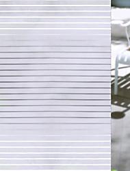 Недорогие -Оконная пленка и наклейки Украшение штейн / Современный Полоски ПВХ Стикер на окна / Матовая