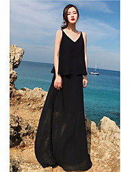 Недорогие -Жен. Из двух частей Платье V-образный вырез Макси