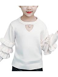 Χαμηλού Κόστους -Παιδιά Κοριτσίστικα Ενεργό Μονόχρωμο Μακρυμάνικο Ακρυλικό / Πολυεστέρας Πουλόβερ & Ζακέτα Λευκό