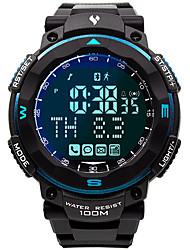 Недорогие -Муж. Армейские часы Японский Японский кварц Pезина Черный 100 m Защита от влаги Smart Bluetooth Цифровой Мода Цветной - Синий Один год Срок службы батареи