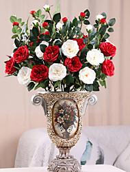 Недорогие -Искусственные Цветы 1 Филиал Классический Свадьба Свадебные цветы Камелия Вечные цветы Букеты на стол