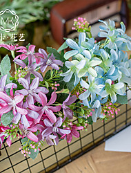 Χαμηλού Κόστους -Ψεύτικα λουλούδια 2 Κλαδί Κλασσικό Αξεσουάρ Στολής Ποιμενικό Στυλ Φυτά Αιώνια Λουλούδια Λουλούδι για Τραπέζι