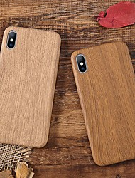 Недорогие -Кейс для Назначение Apple iPhone XS / iPhone XR / iPhone XS Max Защита от удара / Ультратонкий Кейс на заднюю панель Имитация дерева Мягкий ТПУ