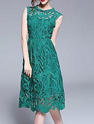cheap -Women's Basic Sheath Dress Green M L XL
