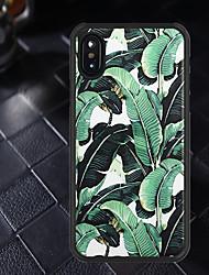 baratos -Capinha Para Apple iPhone X / iPhone XR Estampada Capa traseira Plantas Macia TPU para iPhone XR / iPhone X