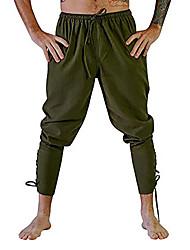 baratos -Cavalheiro Renascentista Roma antiga Ocasiões Especiais Calcinha Homens Calças Baile de Máscara Preto / Marron / Verde Escuro Vintage Cosplay Halloween Mascarilha