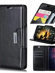 Недорогие -Кейс для Назначение Nokia Nokia 9 / Nokia 8 / 8 Sirocco Кошелек / Бумажник для карт / Защита от удара Чехол Однотонный Твердый Кожа PU / Nokia 6
