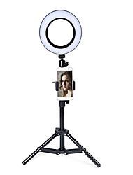 Недорогие -светодиодное кольцо подсветки селфи держатель телефона флешка новинка освещение 74 светодиода 3 цвета фото заливка света тонировка яркость регулируемый штатив