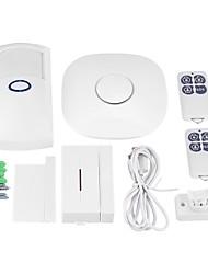Недорогие -Gsm burglar alarm wireless consumer and commercial alarm APP linkage phone SMS door alarm Системы охранной сигнализации GSM iOS / Android Платформа GSM Заданный код 433 Hz для