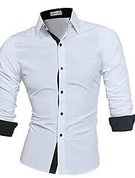 baratos -camisa dos homens - colar de camisa de cor sólida