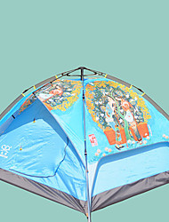 Недорогие -Sheng yuan 3 человека Туристические палатки Семейный кемпинг-палатка На открытом воздухе С защитой от ветра Дожденепроницаемый Воздухопроницаемость Двухслойные зонты Палатка 2000-3000 mm для